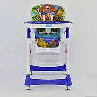 Детский стульчик для кормления JOY J 1750 Пират синий