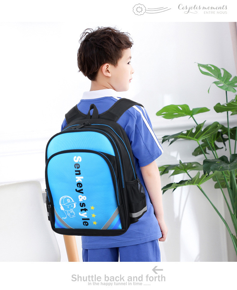 Рюкзак Music голубой Senkey&Style светящийся в темноте