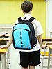 Рюкзак Music голубой Senkey&Style светящийся в темноте, фото 2