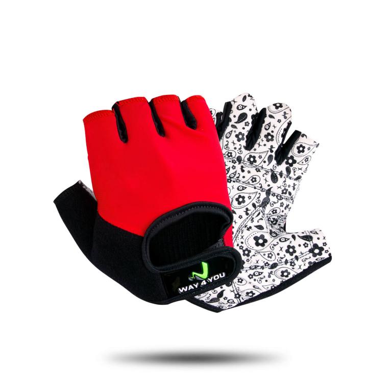 Перчатки для фитнеса женские Way4you-Red M