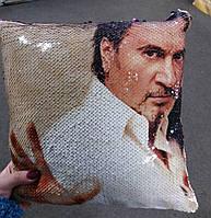 Подушка з паєтками і Вашим фото