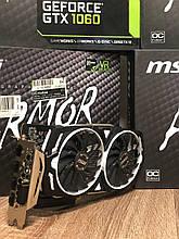 Видеокарта GTX 1060  MSI GeForce Armor OCV1 6GB GDDR5 (192bit) (GTX 1060 ARMOR 6G OCV1) Ветрина