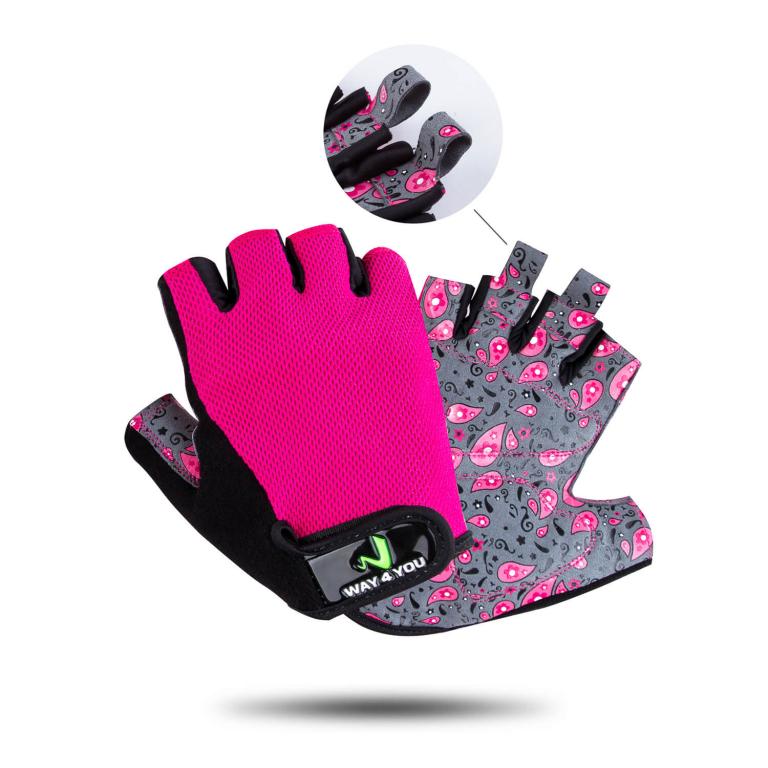 Перчатки для фитнеса женские Way4you-Pink S