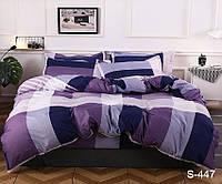 Качественный семейный комплект постельного белья из сатина люкс S447