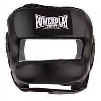 Боксерський шолом PowerPlay тренувальний 3067 з бампером PU, Amara Чорний S SKL24-144823, фото 3