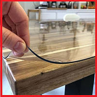 Мягкое стекло Прозрачная силиконовая скатерть на любой стол! Защита для мебели 1х1,2м (Толщина 2.0мм!)