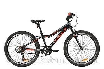 """Велосипед 24"""" FORMULA ACID 1.0 VBR 2020 черно-красный с серым"""