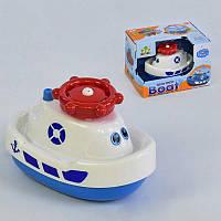Игрушка водоплавающая SL 87002 Катер  (72) на батарейках, запускает фонтанчик, в коробке