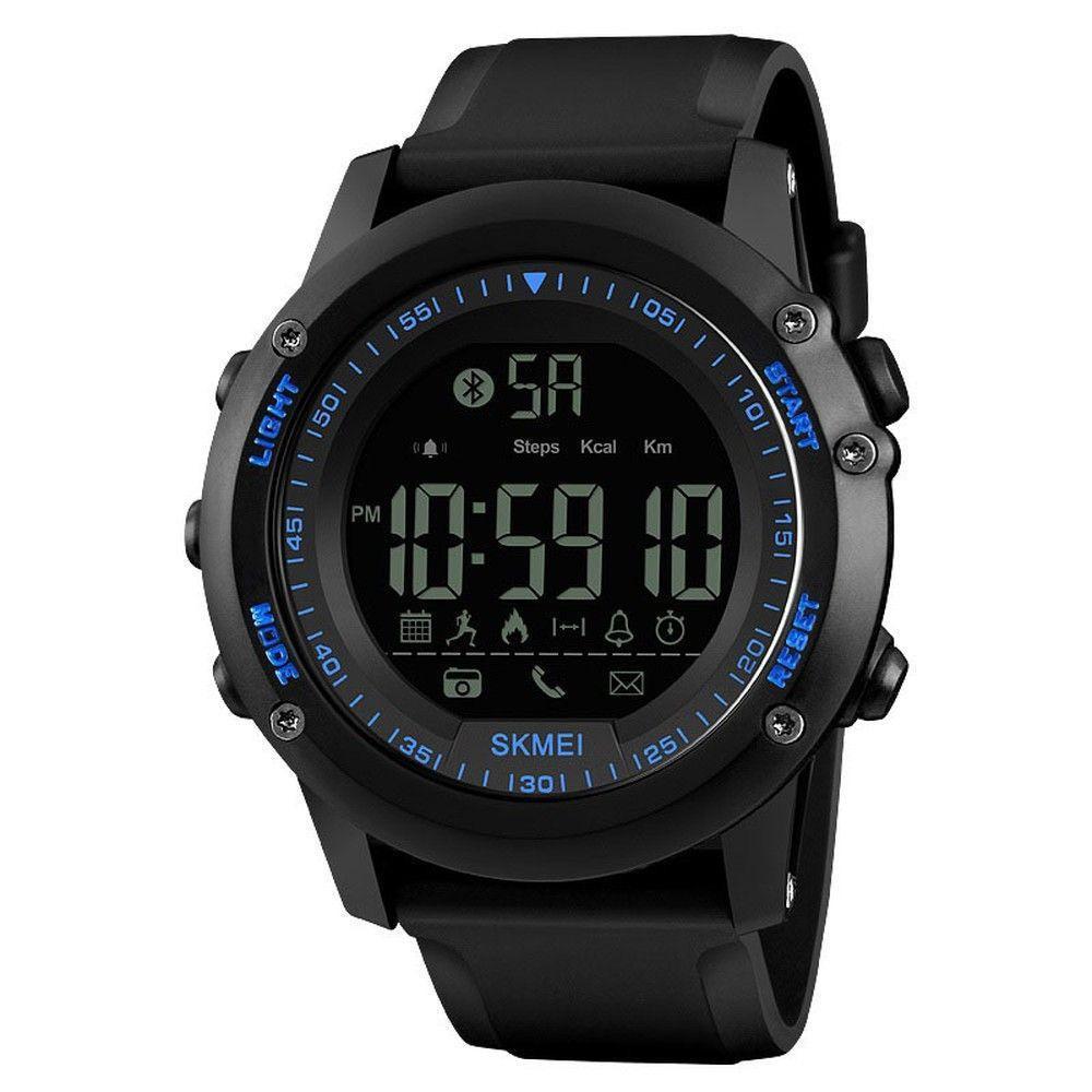 Skmei 1321 DYNAMIC Синие мужские спортивные смарт часы