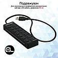 USB-хаб Promate MasterHub-2 7xUSB 3.0 Black, фото 5