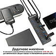 USB-хаб Promate MasterHub-2 7xUSB 3.0 Black, фото 4