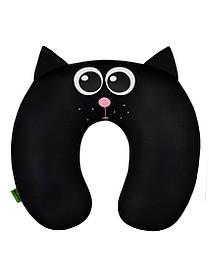 М'яка іграшка підголовник Кіт чорний Expetro КОД: P-003