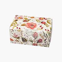 Упаковка для зефира и эклеров - Акварель цветы - 180х120х80 мм, фото 1