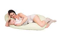Подушка для беременных и кормления анатомическая из гранул Memory Мятный КОД: Vegas Baby Boom