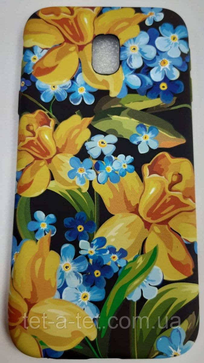 Чехол-накладка Shine Case для Samsung J330 Flowers