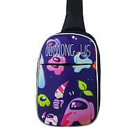 Слим-боди детский рюкзак Among Us (Амонг Ас) Розовый