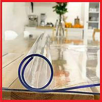 Мягкое стекло. Прозрачная силиконовая скатерть на любой стол! Защита для мебели 1х1м (Толщина 3мм)