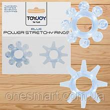 "Набор эрекционных колец из 2 штук  ""Power stretchy Rings Blue"" от Toy Joy"