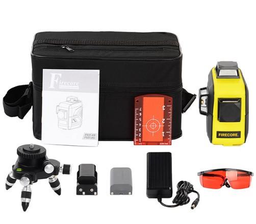 Лазерный уровень (нивелир) FIRECORE F93T-XR 12линий, 360 красный луч, аккумулятор