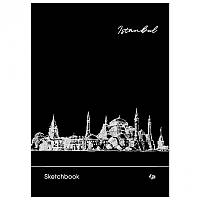 "Блокнот - скетчбук А5 128 л., ""Black sketch book"" ""Istanbul"" черные листы 160 г., пружина, Profiplan 903191"