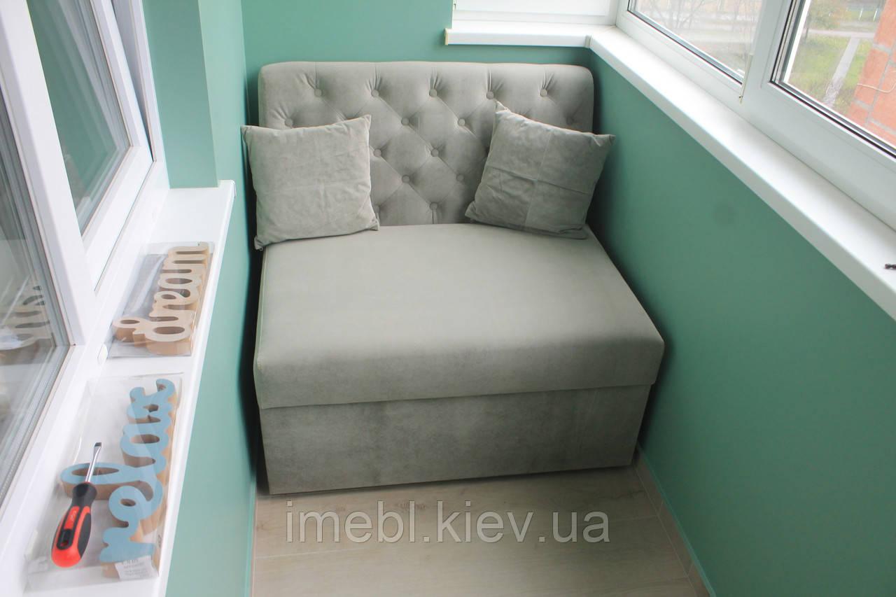 Раскладной диван для лоджии или балкона (Серый)