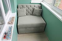Раскладной диван для лоджии или балкона (Серый), фото 1