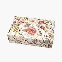 Упаковка для зефира и эклеров - Акварель цветы - 230х150х60 мм, фото 1