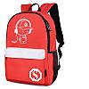 Городской рюкзак Music Senkey & Style красный с белым, который светится в темноте, фото 2