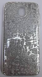 Чехол-накладка Shine Case для Samsung J530 Silver