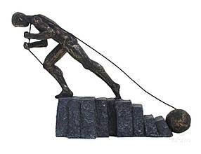 Статуэтка ITALFAMA из смолы и бронзы Never Give Up Никогда не сдавайся  КОД: SR44421