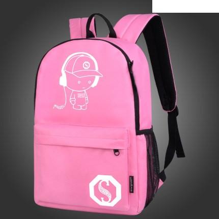 Городской рюкзак Music Senkey & Style розовый, который светится в темноте