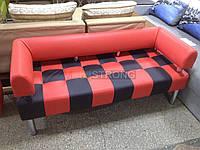 Диван для офиса Стронг Chess (MebliSTRONG) - красно-черный цвет