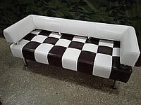 Диван для офиса Стронг Chess (MebliSTRONG) - бело-черный цвет