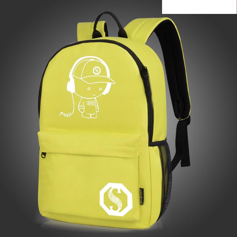 Городской рюкзак Music Senkey & Style желтый, который светится в темноте