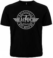 "ФУТБОЛКА AC/DC ""ROCK & ROLL WILL NEVER DIE"""