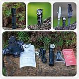 Налобный фонарь Sofirn SP40 Black 1200LM+EDC (Cree XPL, USB, IPX7, Магнит, 5300k NW нейтрально теплый свет), фото 7