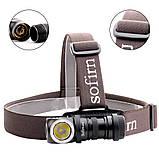 Налобный фонарь Sofirn SP40 Black 1200LM+EDC (Cree XPL, USB, IPX7, Магнит, 5300k NW нейтрально теплый свет), фото 3
