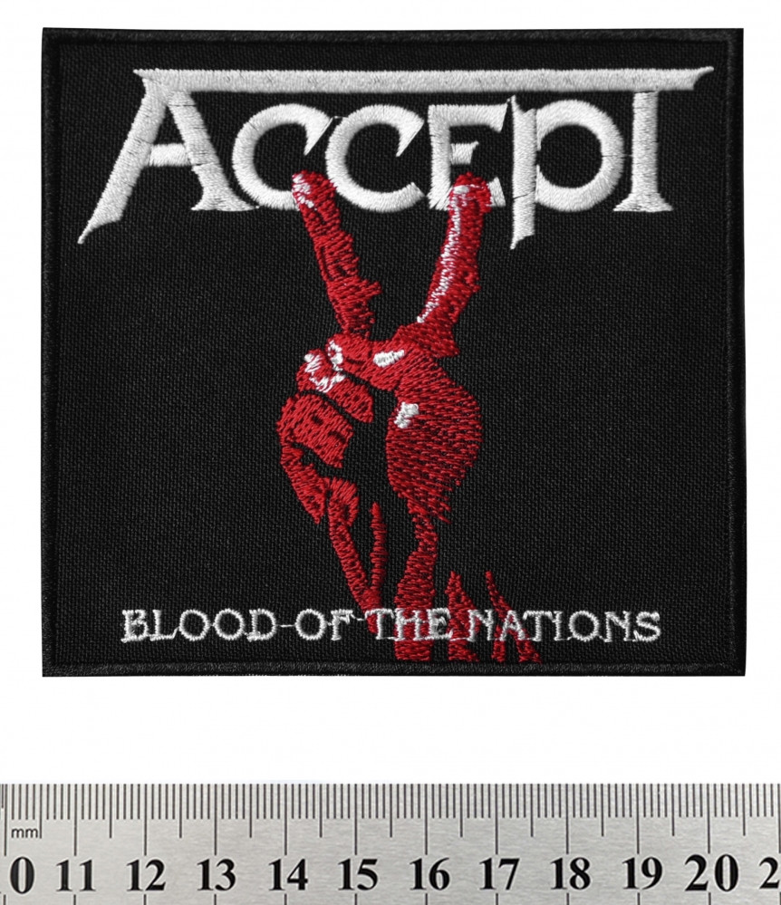 "НАШИВКА ACCEPT ""BLOOD OF THE NATIONS"""
