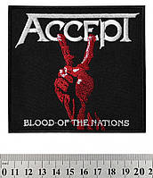"""НАШИВКА ACCEPT """"BLOOD OF THE NATIONS"""""""