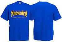 Футболка THRASHER - Flame синя