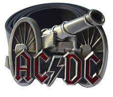 РЕМІНЬ З ПРЯЖКОЮ AC/DC (ГАРМАТА)