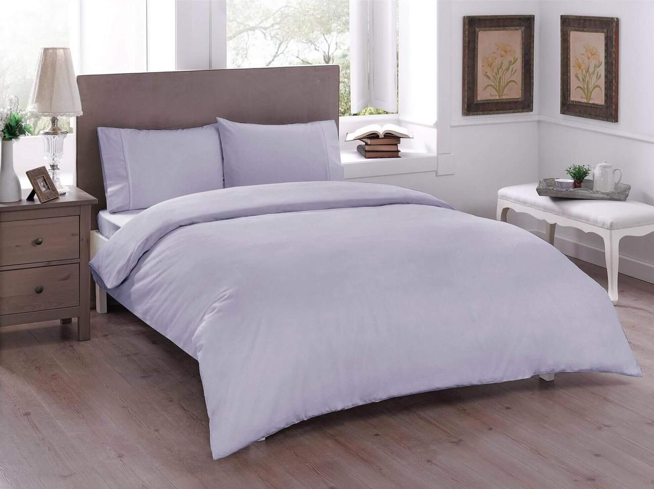 Двуспальный евро комплект TAC Basic Lilac Ранфорс