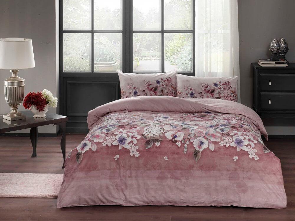 Двуспальный евро комплект TAC Liza Pink Ранфорс