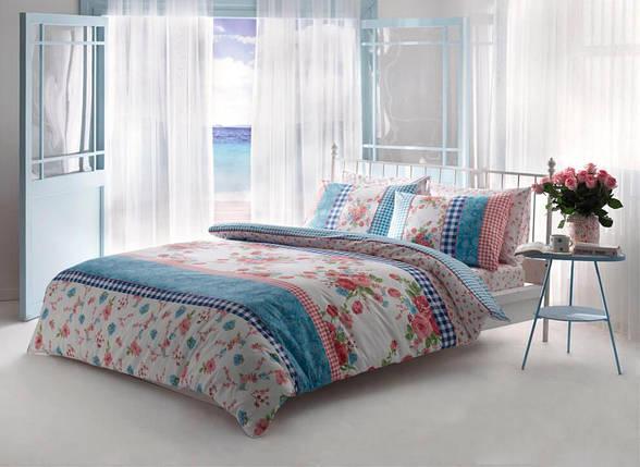 Двуспальный King Size комплект TAC Jillian Pink Ранфорс, фото 2