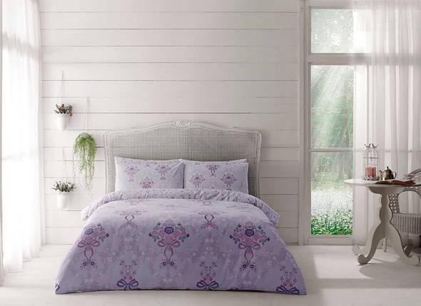Двуспальный King Size комплект TAC Evan Lilac Ранфорс, фото 2