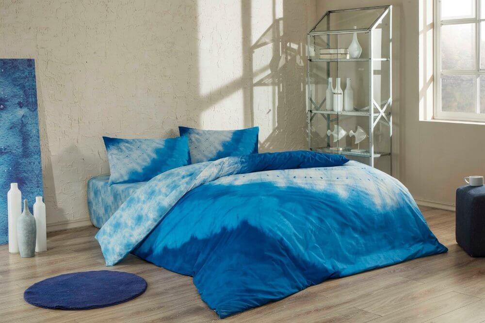 Двуспальный евро комплект TAC Horizon Blue Ранфорс-Antibacterial