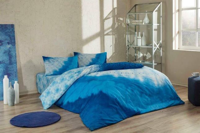 Двуспальный евро комплект TAC Horizon Blue Ранфорс-Antibacterial, фото 2