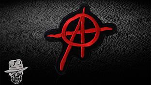 АНАРХІЯ-4 (вирізане лого) - нашивка з вишивкою