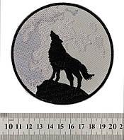 Вовк який виє на Місяць - нашивка
