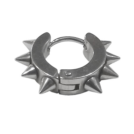 Сережка-кільце з 8 шипами